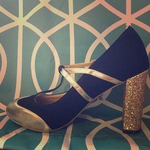 ModCloth Glitter Heel